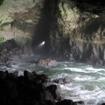 Inside sea lion cave